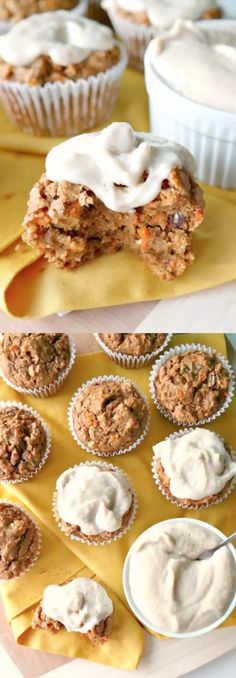 carrot cake muffins with maple orange frosting Graze Box, Orange Frosting, Carrot Cake Muffins, Carrots, Favorite Recipes, Treats, Snacks, Breakfast, Easy