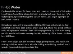 I will never be able to shower the same way again