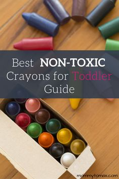 Crayola is made of parrafin wax which is basically petroleum sludge! Read my guide to learn about the best, truly non-toxic crayons for babies and toddlers.