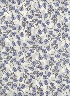 Liberty of London Tana Lawn fabric Ros in blue 6x27 by MissElany, $4.20