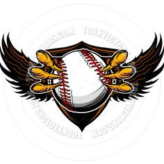 Eagle Baseball Talons and Claws Vector Illustration