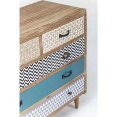 Komoda Capri 90x80x40 cm - 5 szafek, drewniana - HomeDesign - Komody