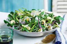 This rocket, asparagus and bocconcini salad is an easy and delicious side to any summer main. Bbq Salads, Savory Salads, Easy Salads, Summer Salads, Creamy Pasta Salads, Creamy Potato Salad, Easy Pasta Salad, Christmas Salad Recipes, Salad