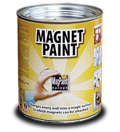 Folosete vopsea magnetica pentru pereti MagPaint pentru lucrari inedite si creative. Transforma peretii intr-o expozitie cu amintiri frumoase.