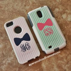 Seersucker & Bow Monogrammed Otterbox @Melissa Vollenweider feel free to get this for me..