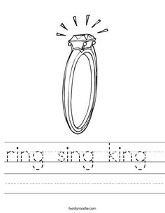 ring sing king worksheet that you can customize and print for kids. Ing Words, Kids Prints, Future Classroom, Mini Books, Worksheets, Singing, Literacy Centers, Countertops