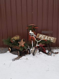 Primitive Christmas, Motorcycle, Vehicles, Prim Christmas, Motorcycles, Car, Motorbikes, Vintage Christmas, Choppers