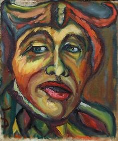Expressionist portrait of a clown Clown Paintings, Portfolio Images, Fine Art America, This Is Us, Wall Art, Artist, Artwork, Clowns, Portraits