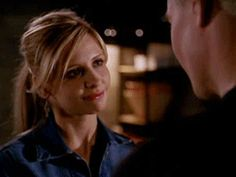 Look at her face. She truly loves him. It only took 5 years to realize and admit it.