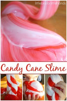 Candy Cane Slime Recipe Sensory Play Quick and Easy Slime