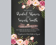 Invitación floral despedida de soltera. por BlueBunnyPrintables