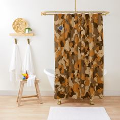 'Army camo design' Shower Curtain by MidnightBrain Camo Designs, Army Camo, Buttonholes, Sell Your Art, Camouflage, Tub, Shower Curtains, Printed, Fall