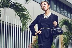 """A little """"glamour"""" while working is not a crime ... Muse : KiKa Make-up : Tiwi Yahdi (me) Photo by : 2riang photography"""