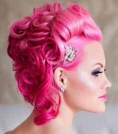 A new kind of formality. Love this luscious pink style with formal finish by Rickey Zito of HeadRush Salon. Rickey, you rock! #hotonbeauty #pinkhair #formalupdo
