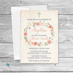 Christmas Baptism Invitations