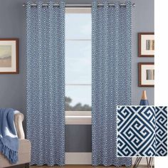 Better Homes and Gardens Greek Key Curtain Panel with Grommets - Walmart.com