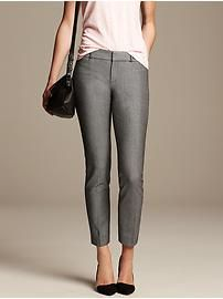 Banana Republic: Sloan-Fit Black and White Slim Ankle Pant-Ck End of July/Beg.-Mid August