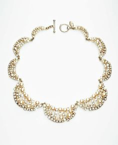 Bead and Crystal Statement Necklace