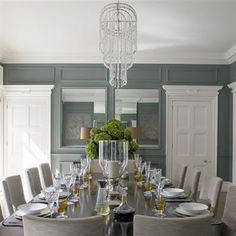 Excellent tablescape... like seating for 2 on the end