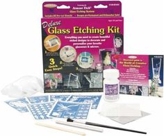 Deluxe Glass Etching Kit-: Amazon.co.uk: Kitchen & Home