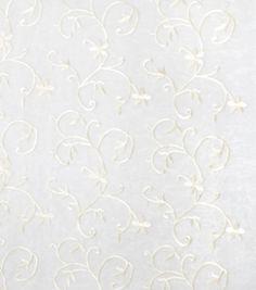 Home Decor Sheer Fabric-Eaton Square Tropicana-Natural FloralsHome Decor Sheer Fabric-Eaton Square Tropicana-Natural Florals,