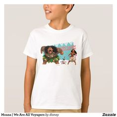 Moana | We Are All Voyagers. Producto disponible en tienda Zazzle. Vestuario, moda. Product available in Zazzle store. Fashion wardrobe. Regalos, Gifts. Link to product: http://www.zazzle.com/moana_we_are_all_voyagers_t_shirt-235435015079822646?CMPN=shareicon&lang=en&social=true&rf=238167879144476949 #camiseta #tshirt #moana