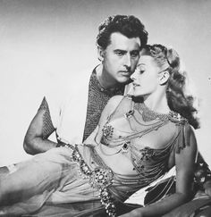 Stewart Granger and Rita Hayworth in a promotional shot for Salome (1953)