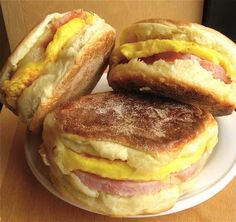 Breakfast Sandwiches on Homemade English Muffins:step-by-step directions and tips.