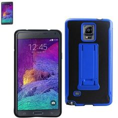 Reiko Horizontal And Vertical Kickstand Case Samsung Galaxy Note4 N910V-N910P-N910T-N910R4 Black Navy