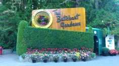 Butchart Gardens in Brentwood Bay, BC Victoria Canada, Lush Green, Beautiful Scenery, British Columbia, Four Square, Places To Travel, Vancouver, The Good Place, Backdrops