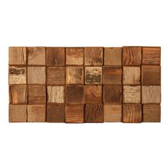 Barnwood Mosaic Unfinished Tile in Natural Wood  I used this on a backsplash in a powder room in Vail. Looked great!   from Terri Hall