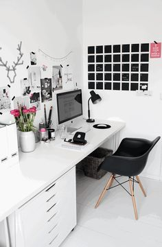 Home office pink_stylizimo, the crux design
