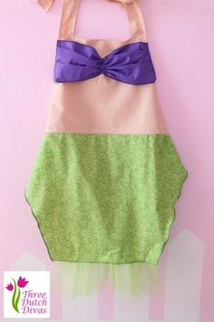 dress up aprons | Ariel little mermaid inspired dress up apron Childs size princess ...