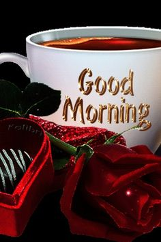 Morning Coffee Images, Good Morning Coffee Gif, Good Morning Beautiful Pictures, Good Morning Flowers Gif, Beautiful Morning Messages, Good Morning Messages, Good Morning Gift, Good Morning My Friend, Good Morning Texts