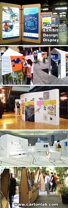 Cardboard exhibition design display created by Cartonlab. #exhibition #display