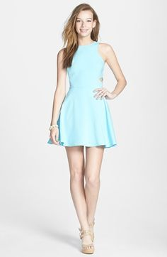 dee elle Side Cutout Skater Dress (Juniors) available at #Nordstrom