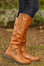 Anything Goes Boots-Cognac