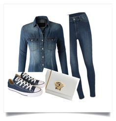 """Jean"" by abidois on Polyvore featuring Cheap Monday, LE3NO, Versace and Converse"