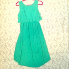 Mint Dress NEVER WORN This is an adorable, slightly high low, mint dress. It's never been worn, from a boutique in Kentucky! Super cute, has a beautiful back! My Beloved  Dresses High Low