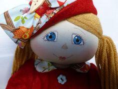 "OLGA-MAE. An 18"" Rag/Cloth handmade OOAK Country Style doll by Brenda Brightmore | eBay"
