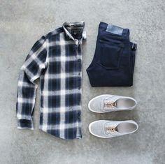 Check shirt outfit idea