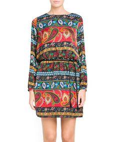 Truska black & multi-coloured dress - Mango Sale