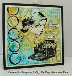 Alie Hoogenboezem-de Vries: Stampinback stamps on this Wish it...Dream it...DO IT! card