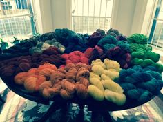Yarn, yarn and more colors of yarn to choose from! We've got silk yarn and cashmere yarn. Natural only, no sythentics!