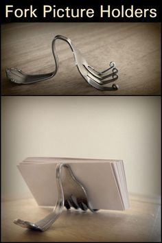 Are you looking for unconventional ways to decorate your home? Here's a lovely idea for your picture frames - DIY Fork Picture Holders
