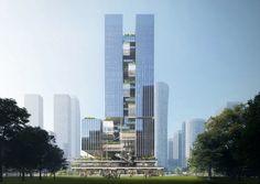 Glass Building, Tower Building, High Rise Building, Building Facade, Box Architecture, Colour Architecture, Amazing Architecture, Mall Design, Tower Design