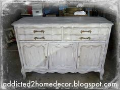 Distressed Grey Buffet