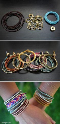 DIY Wrap Bracelet bracelet diy accessories easy crafts diy ideas diy crafts do it yourself diy bracelet diy jewelry craft jewelry  craft bracelet easy diy craft ideas diy tutorials