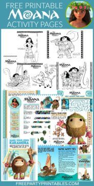 Free Printable Moana Party Activities