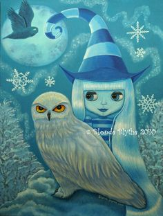 [Fantasy art] Snowy Owl Witch by blondeblythe at Epilogue